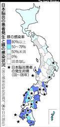日本脳炎・豚の感染状況